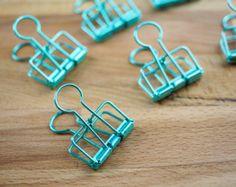 metallic clips in minty green!