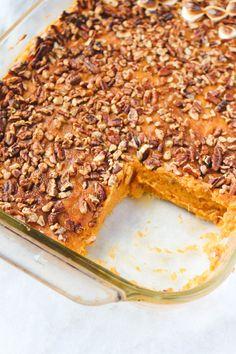 Healthy Sweet Potato Casserole - Vegan Thanksgiving & Holiday Recipe