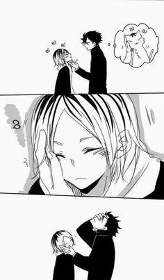 Read Kuro no Neko from the story Doujinshi comic [Haikyuu! Kuroo X Kenma, Haikyuu Kageyama, Haikyuu Funny, Kagehina, Haikyuu Manga, Haikyuu Fanart, Haikyuu Ships, Hiro Big Hero 6, Volleyball Anime