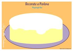 Possum Magic Party -Pavlova Playdough Mat by My Little Bookcase Preschool Writing, Kindergarten Games, Play Based Learning, Kids Learning, Mem Fox Books, Playdough Cake, Possum Magic, Australia Crafts, Cake Cafe