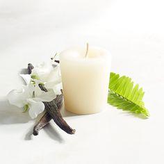 Cuban Vanilla Votive Candle Ivory