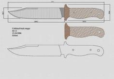 facón chico: Moldes de Cuchillos