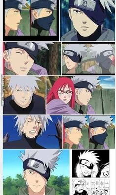 Kakashi is so freakin attractive, but now it would be very strange to see him without the mask :'Dddd Naruto Uzumaki, Naruto Sasuke Sakura, Naruto Art, Anime Naruto, Boruto, Narusaku, Kakashi No Mask, Kakashi Face, Kakashi Sensei