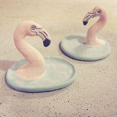 Pink flamingos off to a glaze firing. . . . . #porcelain #porcelaincreatures #ceramics #glaze #flamingo #flamingos #pink #pinkflamingo #glazefiring #wip