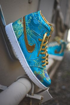 """The Spring"" Custom Nike Air Force 1 All Nike Shoes, Hype Shoes, Sneakers Nike, Adidas Shoes, Jordan Shoes Girls, Air Jordan Shoes, Custom Made Shoes, Custom Sneakers, Custom Football Cleats"