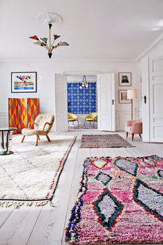 Gorgeous Moroccan rugs | follow @shophesby for more gypset boho modern lifestyle + interior inspiration