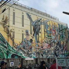 吉祥寺にもこんな壁画が誰の作品なんだろー #1日1アート #art #everydayart #mural #kichijoji #tokyo #japan