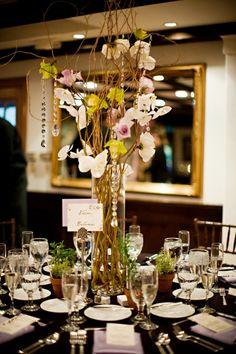 diy tall wedding centerpieces