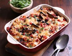A hearty winter gratin layered with tender aubergines, soft spuds and a rich tomato sauce, all sitting cosily under a gloriously gooey topping of bubbling mozzarella. Vegetarian Recipes Dinner, Vegetable Recipes, Meat Recipes, Meat Meals, Cooking Recipes, Vegetarian Food, Cooking Ideas, Dinner Recipes, Abel And Cole