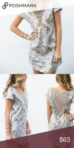 Free People Dress Free People Mesh Sequin Dress / Size S Free People Dresses Mini