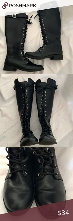 16 Best Tall lace up boots images | Tall lace up boots
