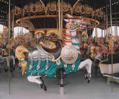 This is the Round Shield Horse on the Euro Disney Carousel outside Paris