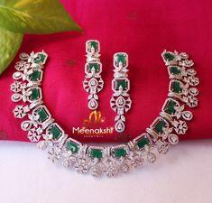 Diamond Necklace Set, Diamond Choker, Diamond Pendant, Mom Jewelry, Emerald Jewelry, Diamond Jewelry, Stylish Jewelry, Luxury Jewelry, Small Necklace