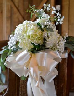 Wedding ceremony flowers...Barn wedding and reception venue in Alabama whiteacresfarms.com