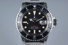 1971 Rolex Red Submariner 1680 Mark IV Dial UNPOLISHED