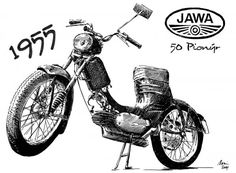 Jawa 50 Pionýr Sports Clubs, Classic Bikes, Bike Design, Motor Sport, Vintage Advertisements, Cars And Motorcycles, Vintage Posters, Motorbikes, Vintage Cars