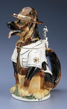SHERIFF DOG BEER STEIN