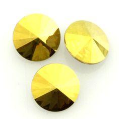Eureka Crystal Beads - 1122 10mm (47ss) Rivoli CRYSTAL METALLIC SUNSHINE Swarovski Crystal Stones (4 pcs), $2.85 (http://www.eurekacrystalbeads.com/1122-10mm-47ss-rivoli-crystal-metallic-sunshine-swarovski-crystal-stones-4/)