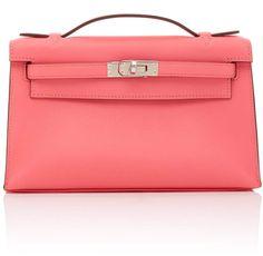 aa37511d4a19 Hermès Hermès Rose Azalee Swift Leather Kelly Pochette Hermes Bags