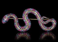 Serpento -  Mousson Atelier Yellow gold 750, Sapphires, Pink sapphires