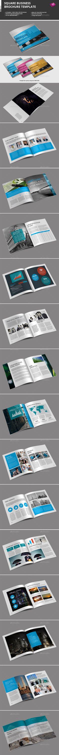 Square Business Brochure Template — InDesign INDD #corporate #layered • Available here → https://graphicriver.net/item/square-business-brochure-template/9476062?ref=pxcr