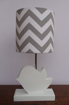 Bird Lamp - Handmade Wooden Animal Desk or Table Lamps - Great for Nursery or Child's Bedroom