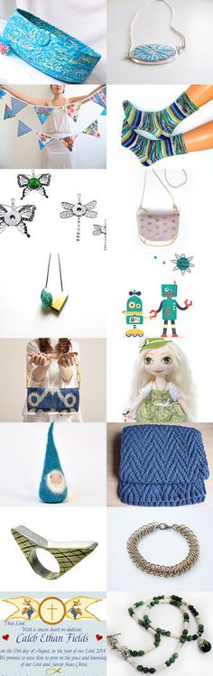Cheer Up! by Julia on Etsy--  Love this Etsy Treasury by Fibernique.... so many unique gift ideas..... Lovely handmade Turquoise cat bed basket.... Pinned+with+TreasuryPin.com