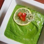 Creamy Kale Avocado Soup. I've made it, it's awesome.