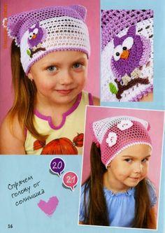 Crochet: Cover hair for girls