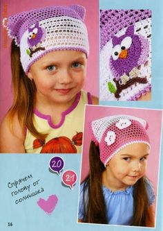 Crochet: Cover hair for girls