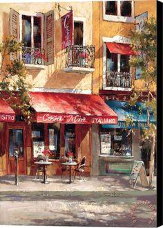 brent heighton Casa Mia Italiano Stretched Canvas Print / Canvas Art