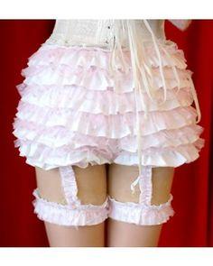 Multiple Ruffles Bows Cotton Lolita Frillies $19.99-Bloomers and Knickers - Lolita Accessories - My Lolita Dress