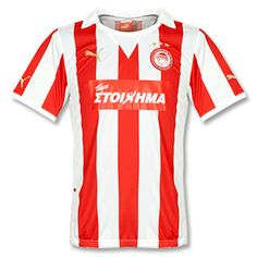 Olympiakos Home Jersey Soccer Shirts, Online Business, Rest, Europe, Spaces, Hs Sports, Shirts, Football Shirts, Football Jerseys