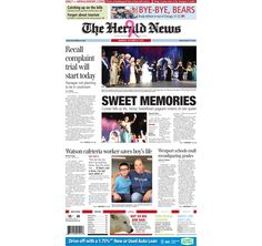 The front page of The Herald News for Monday, Oct. 27, 2014. #fallriver