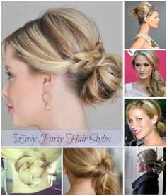 These 10 Easy Party Hair Styles are perfect for those rushed days. Get out of the ponytail rut and enjoy your evening out in style. #hairfinity