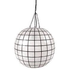 Jonathan Adler Small Capiz Pendant in Ceiling Lights & Pendants