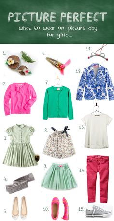 Are your kids' school pictures soon? Here is a picture perfect guide for choosing an outfit.