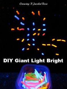 DIY giant light bright made from a peg board painted black with glow sticks-these look a little long-if I could find shorter glow sticks for it it would be cool for an outside wedding
