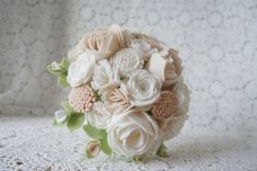 Classic Bridal Bouquet-Handmade Felt by HeartFeltFlowerFarm