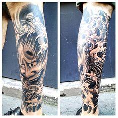 second session ... done . #hannya #tattoo #tattooartistmagazine