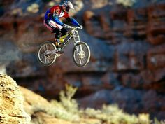 mountain biking - Now if I did that, I would probably crush a wheel.