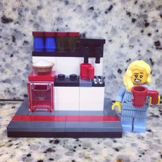 It's monday and i am late! Good morning! ☕️ #Lego #brickcentral_mocs #legohumor #legolover #moc #minifigures #coffee
