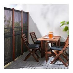 SLÄTTÖ Privacy screen, outdoor Black/brown stained 211 x 170 cm - IKEA Apartment Balcony Decorating, Apartment Balconies, Balcony Privacy Screen, Outdoor Privacy Screens, Privacy Planter, Balkon Design, Outdoor Furniture Sets, Outdoor Decor, Outdoor Balcony