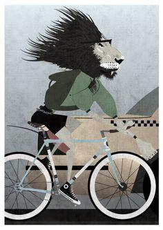 lion, animal, hipster, cool, postmodern, hip, cat, geek, fixie, fixed gear, gear, converse, chucks, bike, bikes, cycle, cycling, bicycle, bicycles, fixie, fixed, gear, vintage, retro, racing,