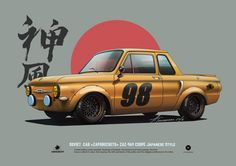 ZAZ-968 Coupe Japanese style, Andrey Tkachenko on ArtStation at https://www.artstation.com/artwork/qOnRe
