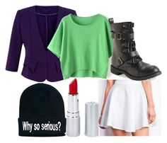 """""""The Joker Inspired Outfit"""" by hurricane-halsey ❤ liked on Polyvore featuring Cutie, Aéropostale and HoneyBee Gardens"""