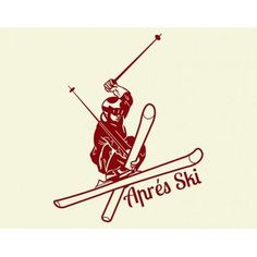 "Style and Apply Apres Ski Wall Decal Size: 46"" H x 56"" W, Color: Dark Green"