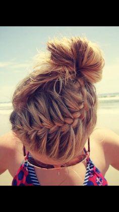 Amazing Hairstyle ~ Braid and Bun, too!!