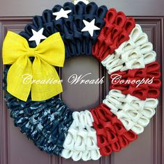 Patriotic U.S. Navy Wreath by CreativWreathConcept on Etsy, $50.00