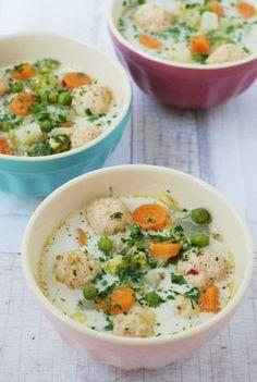 Húsgombócos zöldségleves recept